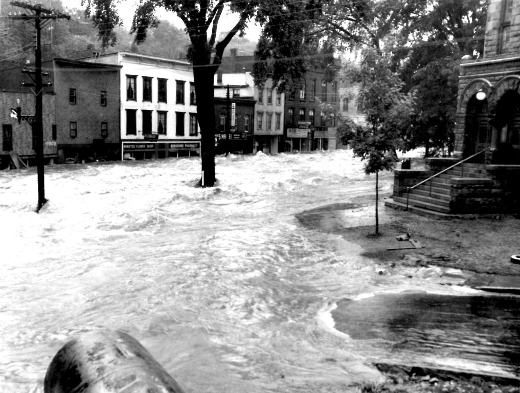 Winsted Ct 1955 Flood Of Mad River Hurricane Connie And